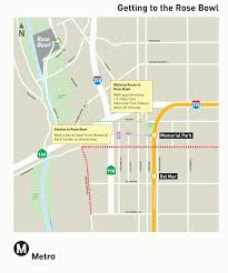 Los Angeles Metro Map by How To Get To Rose Bowl Stadium