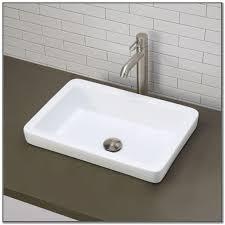 semi recessed rectangular bathroom sink best bathroom decoration