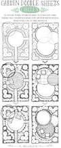 garden doodle sheets circles