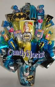 batman centerpieces candy florist candy bouquet centerpieces