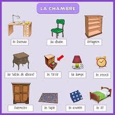 vocabulaire de la chambre mon de français la chambre vocabulaire