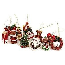 tree decorations set of 18 co uk kitchen home