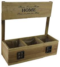 zeckos home sweet home decorative 3 compartment pre lined wooden