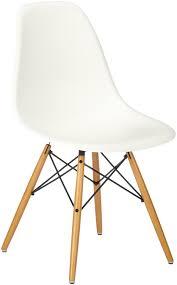 vitra 440023000204 eames chair dsw plastic frame maple seat white