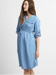 maternity tencel shirtdress gap