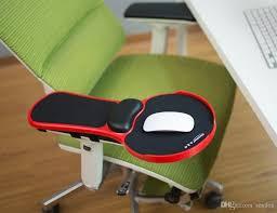 Adjustable Computer Desk New Top Ergonomic Memory Foam Armrest Mouse Pad Rotatable