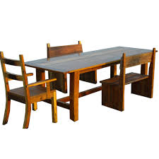 kitchen furniture the spotted door rusted nail reclaimed wood dining set
