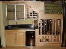 creative under stairs wine storage idea feat cool tiny kitchen