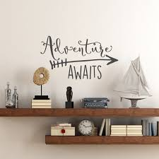 theme home decor travel theme adventure awaits vinyl wall decal home decoration