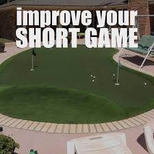 improve your short game with a backyard putting green golf