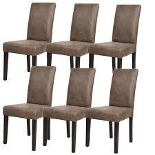 m chaises albus lot de 6 chaises de salle à manger vintage marron achat
