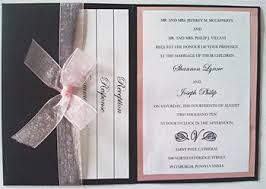 pocketfold invitations custom metallic pocket fold wedding invitation