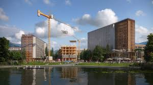 create a building katerra combines technology and modular construction to create large