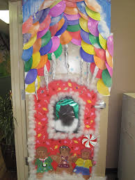 holiday door decorating peeinncom inspirations christmas cubicle