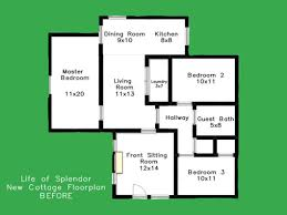 small modern house floor plans 3d floor small plan architectural