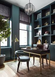 Masculine Home Office by This Refined New York Apartment Is So Much More Than A Bachelor