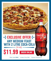 is dominos open on thanksgiving dominos pizza canada offers 11 99 any medium feast pizza with 2