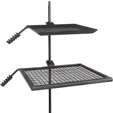 Firepit And Grill by Titan Campfire Adjustable Swivel Grill Fire Pit Cooking Grate