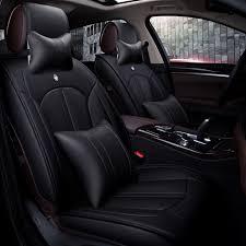 housse siege 307 de luxe en cuir housse de siège de voiture siège universel couvre