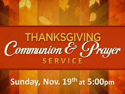 thanksgiving communion prayer service