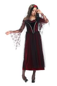 long dress queen halloween witch costume women gothic