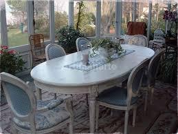 sala da pranzo provenzale tavolo ovale decapato artigianarte