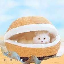 hamburger cat and small dog bed different by hamburger bed