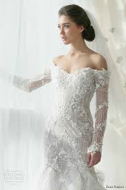 chic ziad nakad mermaid wedding dress with off the shoulder