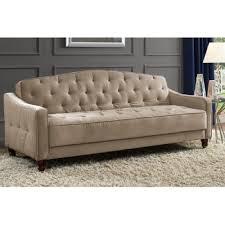 Tufted Vintage Sofa by Amazon Com Novogratz Vintage Tufted Sofa Sleeper Ii Taupe Velour