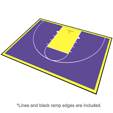 basketball court floor kit backyard 46x30