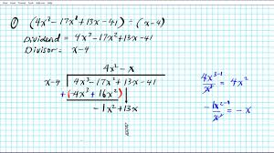 how to divide polynomials by long division algebra 2 common core 3