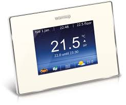 warmup 4ie smart wifi thermostat bright porcelain thermostats