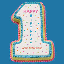 happy 1st birthday wishes special cake with your name
