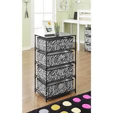 Zebra Print Bedroom Furniture by Altra Furniture Zebra Print 4 Bin Storage End Table 7777096 The