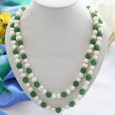 jade bead necklace images 2018 new arrive jewelry christmas gift 46inch aa 9 10mm white jpg