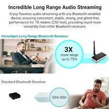 amazon com bluetooth audio receiver adapter long range aptx low