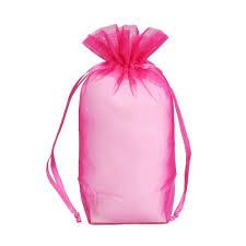 pink organza bags flat bottom organza bags