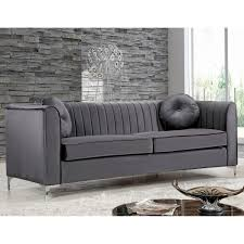 grey velvet sectional sofa sofas