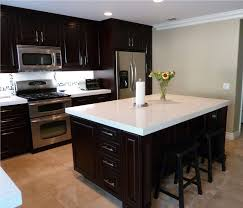 espresso kitchen cabinets with white countertops pin by merideth verhine on some day my house will come