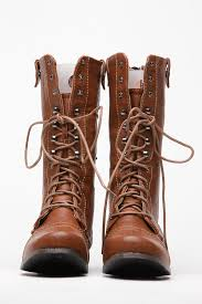 sweater lined foldover combat boots floral fold whiskey combat boot cicihot boots