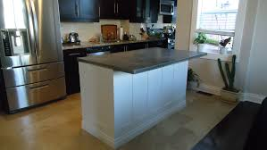 kitchen islands with granite countertops concrete countertop overhang support home design ideas
