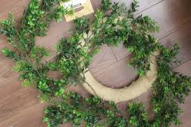 artificial boxwood wreath diy faux boxwood wreath in our home
