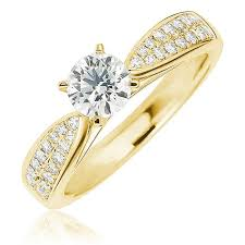 solitaire rings gold images Yellow gold engagement rings jpg