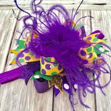 mardi gras bow buy mini mardi gras bow headband infant online at beautiful bows