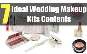 wedding makeup kits 7 ideal wedding makeup kits contents various essentials for