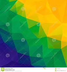 Brazil Flag Image Abstract Polygon Background Brazil Flag Colors Stock Vector