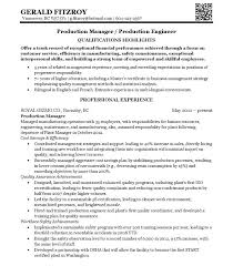 Manufacturing Engineering Manager Resume 100 Quality Manager Resume 100 Contract Manager Resume