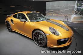 yellow porsche 911 2018 porsche 911 turbo s exclusive series at the iaa 2017