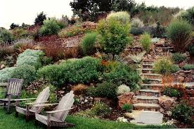 Slope Landscaping Ideas For Backyards Wonderful Hillside Landscape Ideas At Home Home Design Ideas