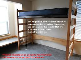 How To Build A Loft Bed With Desk Underneath by Loft Kits Bunked And Raised Beds Gonzaga University